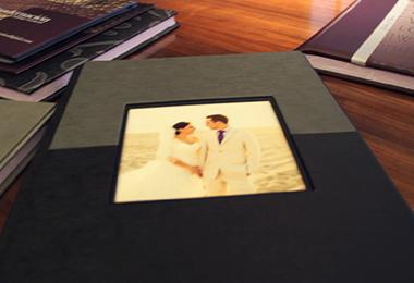Post-producción y diseño de álbum de bodas