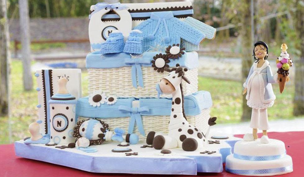Pasta de azúcar: recuerdos de un baby shower especial