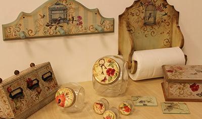 Utilitarios decorados para cocina y mesa