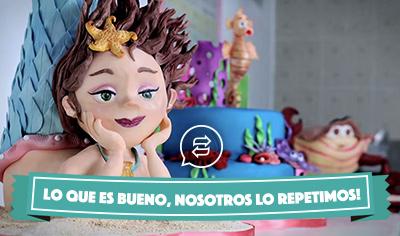 Pasteles modelados en plastilina de chocolate: la fiesta marina